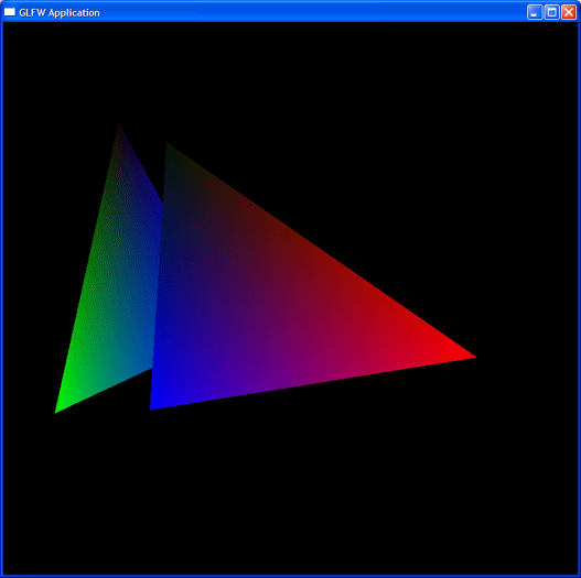 The stereotypical OpenGL spinning triangle demo